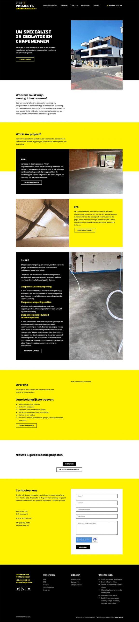 S F Projects Uw specialist in isoleren en chapewerken te Londerzeel
